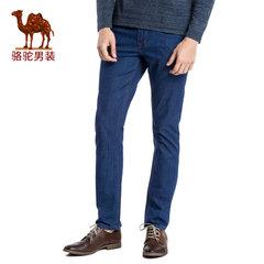 Camel/骆驼男装 商务休闲男士薄款中腰舒适长裤子直筒牛仔裤男