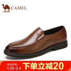 Camel/骆驼男鞋2017春季新品商务正装低帮牛皮套脚优雅男士皮鞋