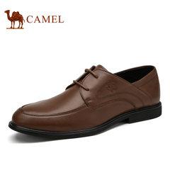 Camel/骆驼男鞋商务正装真皮系带 舒适柔软耐磨低帮鞋男士皮鞋
