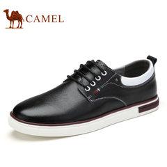 Camel骆驼男鞋 2017新款男士日常时尚休闲板鞋舒适系带低帮滑板鞋