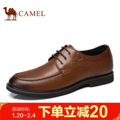 Camel/骆驼男鞋2017春季新品正装皮鞋牛皮系带皮鞋商务鞋男鞋子