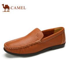 Camel骆驼男鞋 2017春季新款男士套脚休闲皮鞋乐福鞋日常休闲鞋