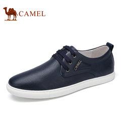 Camel/骆驼男鞋 舒适日常休闲系带牛皮鞋日常休闲男士皮鞋