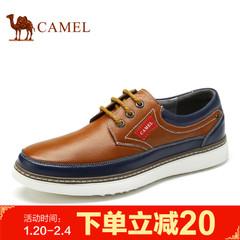 Camel/骆驼男鞋2017春季新品百搭舒适日常休闲皮鞋时尚耐磨牛皮鞋
