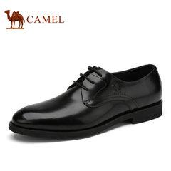 Camel/骆驼男鞋2017年夏季新品   商务正装皮鞋舒适系带皮鞋男