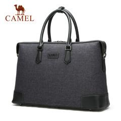 Camel/骆驼新款男士手提包商务休闲男版单肩斜挎包大容量公文男包