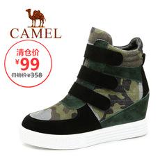 【特价清仓】Camel/骆驼女鞋春季羊皮迷彩磨砂皮拼色日常休闲鞋子