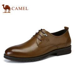 Camel/骆驼男鞋2017秋季低帮鞋牛皮系带商务正装皮鞋牛津鞋英伦