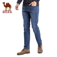 Camel/骆驼男装 时尚青年男士商务休闲长裤拉链宽松直筒牛仔裤男