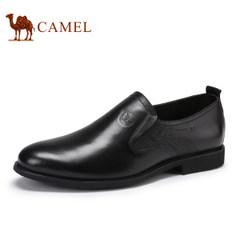 CAMEL骆驼男鞋 2017春季新品套脚商务正装皮鞋男柔软舒适透气
