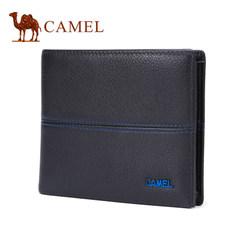 Camel/骆驼2017春季新款男士钱包 时尚雅致牛皮横款钱包青年皮夹