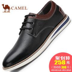 CAMEL骆驼男鞋 2017新款柔软耐磨日常休闲男鞋手工缝线系带皮鞋