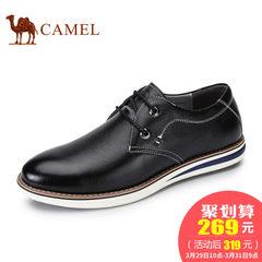 CAMEL骆驼男鞋 2017春季新款舒适日常休闲男皮鞋手工缝线耐磨