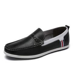骆驼男鞋 秋季 时尚舒适柔软套脚豆豆鞋防滑透气乐福鞋时尚驾车鞋