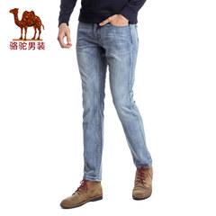 Camel/骆驼男装 2017夏季新款时尚修身小脚牛仔裤 中腰长裤子潮男