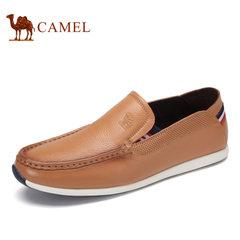 Camel/骆驼男鞋2017秋季新品时尚休闲低帮鞋日常休闲套脚皮鞋男