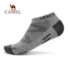 【2017新品】骆驼运动袜 男款回弹吸汗透气舒适面料短筒袜运动袜