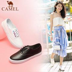 Camel/骆驼女鞋 2017秋季新款 韩版时尚休闲鞋 舒适白百搭小白鞋