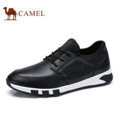Camel/骆驼男鞋2017年春季新品 真皮品质透气舒适运动休闲健步鞋
