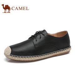 Camel/骆驼男鞋2017夏季新品日常休闲低帮系带复古渔夫鞋休闲男鞋