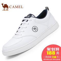 Camel骆驼男鞋 2017春季新款时尚小白鞋舒适休闲鞋系带耐磨低帮鞋
