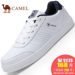 CAMEL骆驼男鞋2017春季新款流行板鞋舒适休闲男鞋低帮系带小白鞋