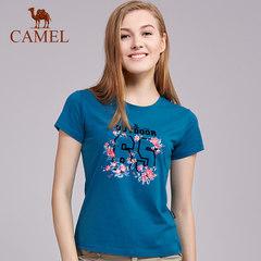 骆驼户外休闲T恤 春夏女款轻薄透气宽松短袖棉T恤