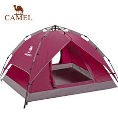 【2017新品】骆驼户外帐篷 自动帐篷3-4人双层帐遮阳防风防水帐篷
