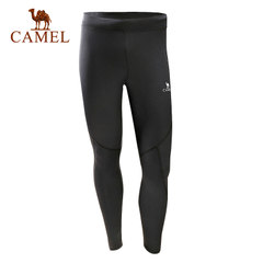 【2017新品】骆驼运动男款针织长裤 弹力透气快干速干时尚运动裤
