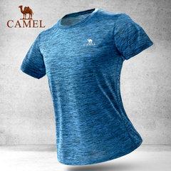 【热销9000件】骆驼户外运动T恤男女透气吸湿快干圆领短袖休闲T恤