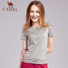 骆驼户外运动T恤 男女透气吸湿快干圆领短袖休闲T恤