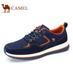 Camel/骆驼男鞋2017夏季新品轻盈舒适健步鞋网面鞋时尚休闲运动鞋