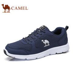 camel骆驼男鞋2017秋季休闲运动鞋女情侣款跑步鞋透气网布鞋
