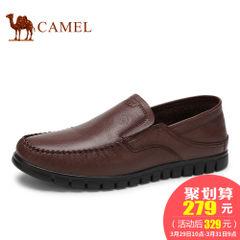CAMEL骆驼男鞋 2017春季新款轻便休闲驾车鞋低帮皮鞋男套脚乐福鞋