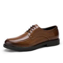 Camel/骆驼男鞋2017夏季新品商务休闲英伦风牛皮系带低帮男士皮鞋
