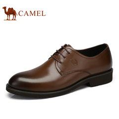 Camel/骆驼正装皮鞋男鞋商务正装真皮品质系带男士鞋2017春季新款