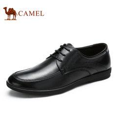 Camel/骆驼男鞋皮鞋2017年秋季新款商务休闲皮鞋男真皮牛皮鞋子男