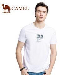 Camel/骆驼大码男装男士纯色t恤男短袖夏季薄款体恤社会小伙潮流T