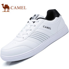 Camel/骆驼男鞋2017秋季小白鞋运动休闲系带板鞋男街头时尚休闲鞋