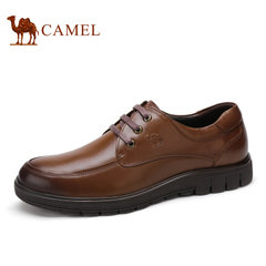 Camel/骆驼男鞋春季修面牛皮系带商务休闲男士皮鞋子
