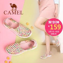 Camel/駱駝女鞋 2017春夏新款 輕盈百搭休閑鞋 舒適豆豆鞋健步鞋