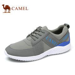 Camel/骆驼男鞋低帮鞋优质牛皮舒适透气时尚休闲舒适运动鞋跑步鞋