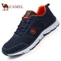 CAMEL骆驼男鞋 2017春季新品运动休闲网布轻质跑步鞋透气低帮鞋