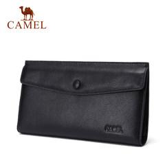 Camel/骆驼男包春季新款男士手拿包真皮横款手包男长款软牛皮钱包