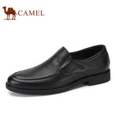 Camel/骆驼男鞋2017夏季新品镂空男鞋透气鞋商务休闲鞋真皮 男鞋