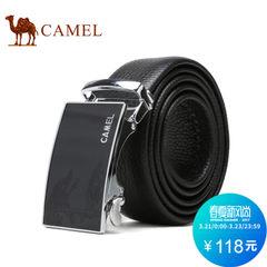Camel/骆驼春季新款男士真皮腰带商务休闲牛皮自动扣皮带青年男款