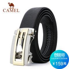 Camel/骆驼新款牛皮男士腰带商务休闲皮带男锌合金自动扣裤带