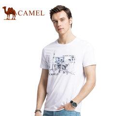 【2017新品】骆驼户外T恤夏季时尚印花圆领上衣短袖T恤衫男青年
