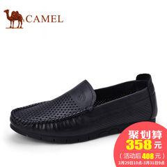 CAMEL骆驼男鞋 夏季真皮休闲镂空皮鞋男鞋透气男士单鞋子