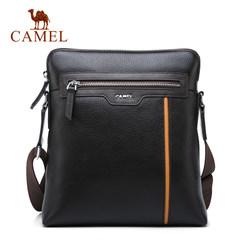 Camel/骆驼男包男士真皮单肩包商务休闲牛皮男斜挎包背包青年包包